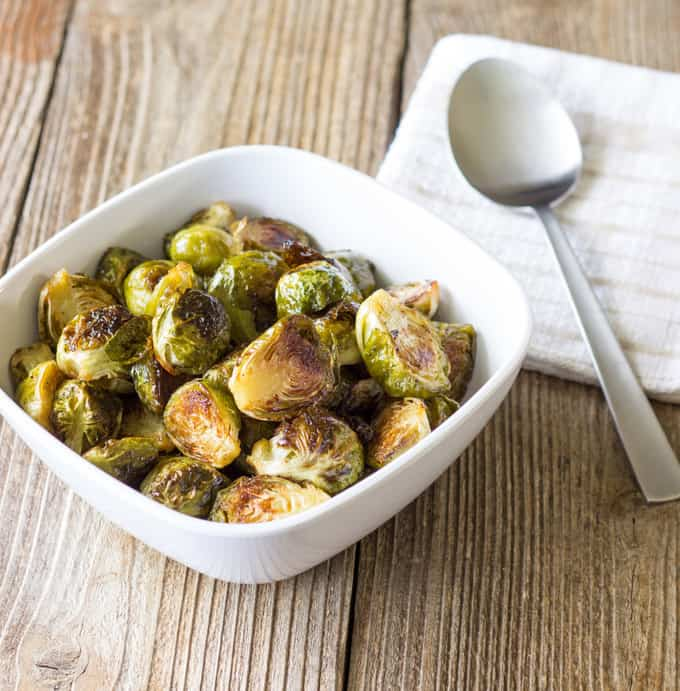 Maple Syrup Roasted Brussels Sprouts