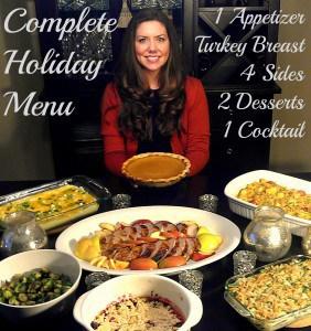 complete holiday menu