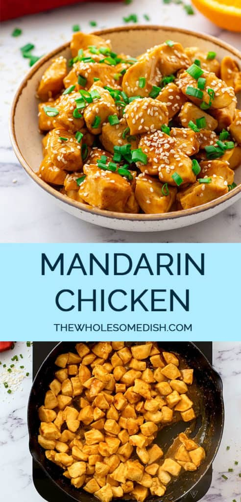 Chinese Mandarin Orange Chicken Recipe 2 image Pinterest Collage