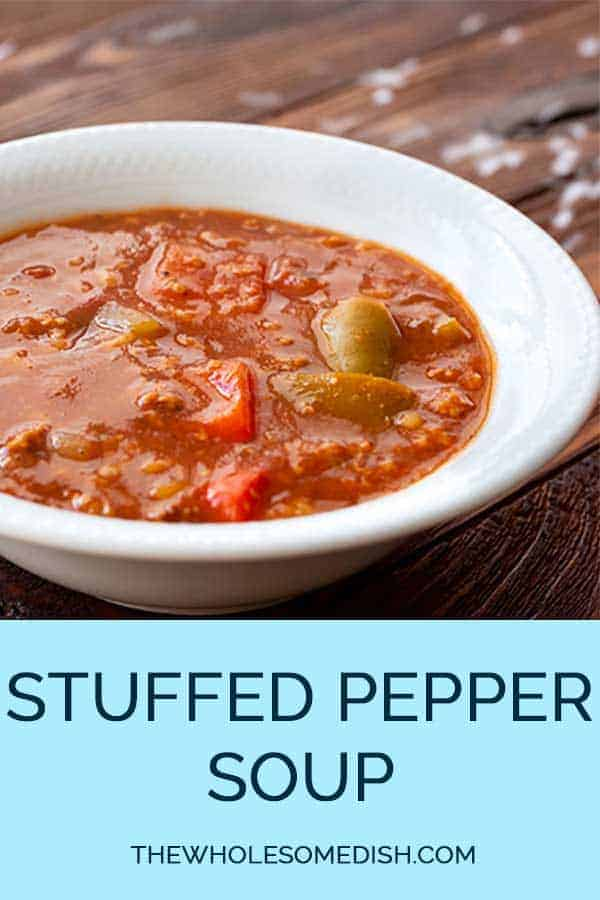سوپ فلفل شکم پر را در یک کاسه بریزید