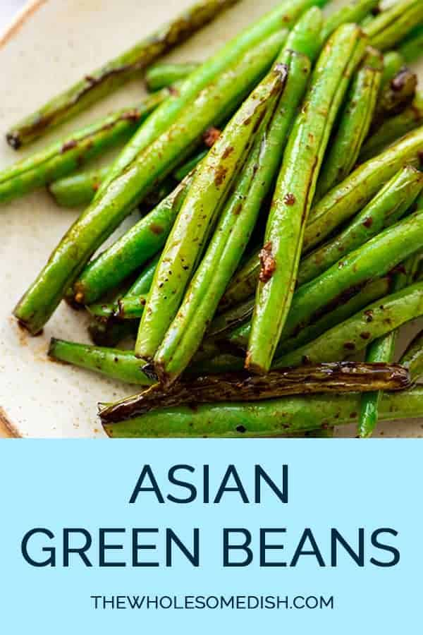 Asian Green Beans Recipe on a plate