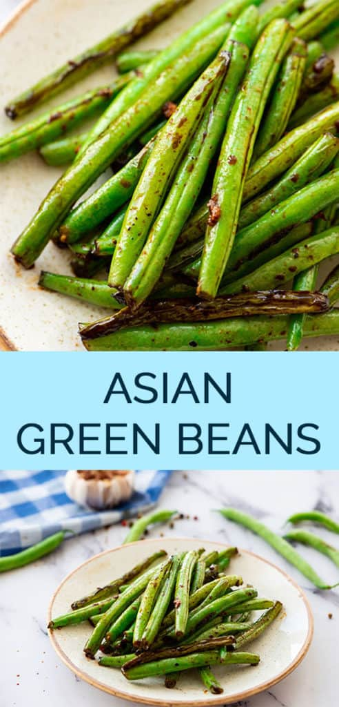 Chinese Green Bean Recipe Pinterest Collage