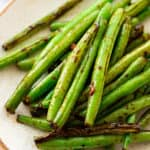 Crunchy Asian Green Beans on a plate