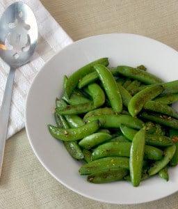 sugar snap peas with garlic 1