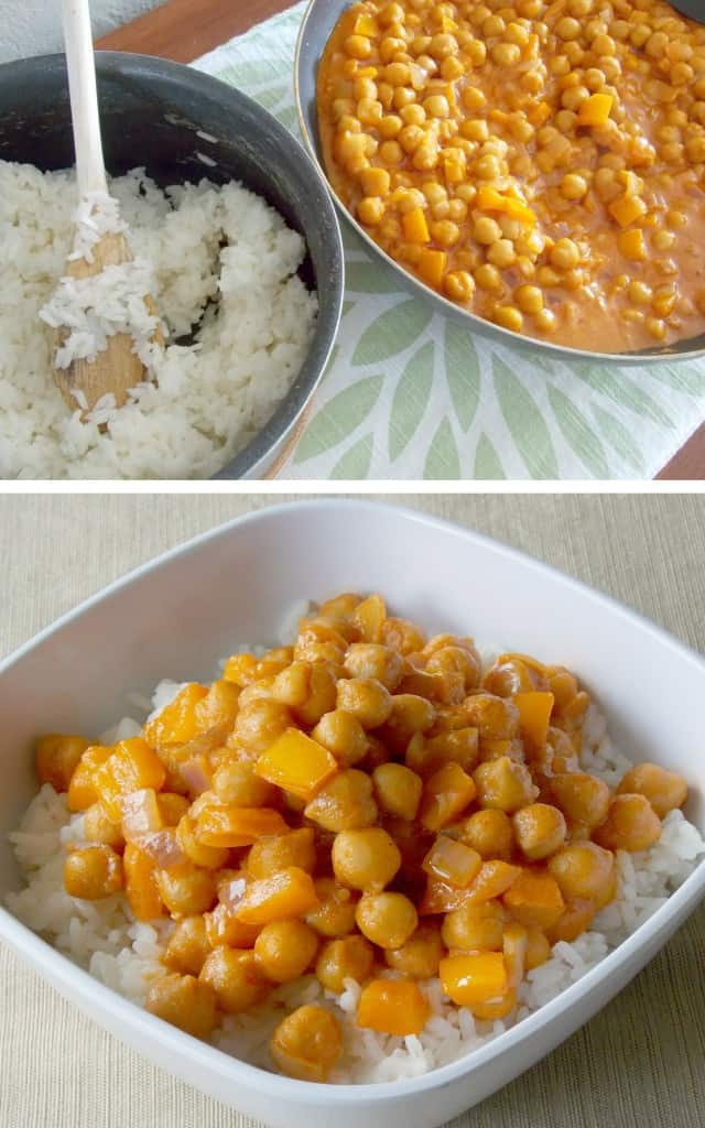 Coconut Curry Garbanzo Beans 2 image collage