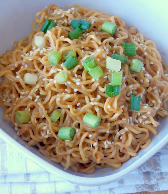 Sesame Peanut Butter Noodles - The Wholesome Dish