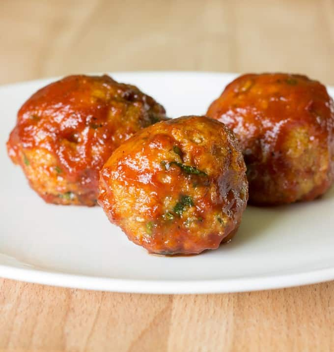 Honey Barbeque Chicken Meatballs The Wholesome Dish