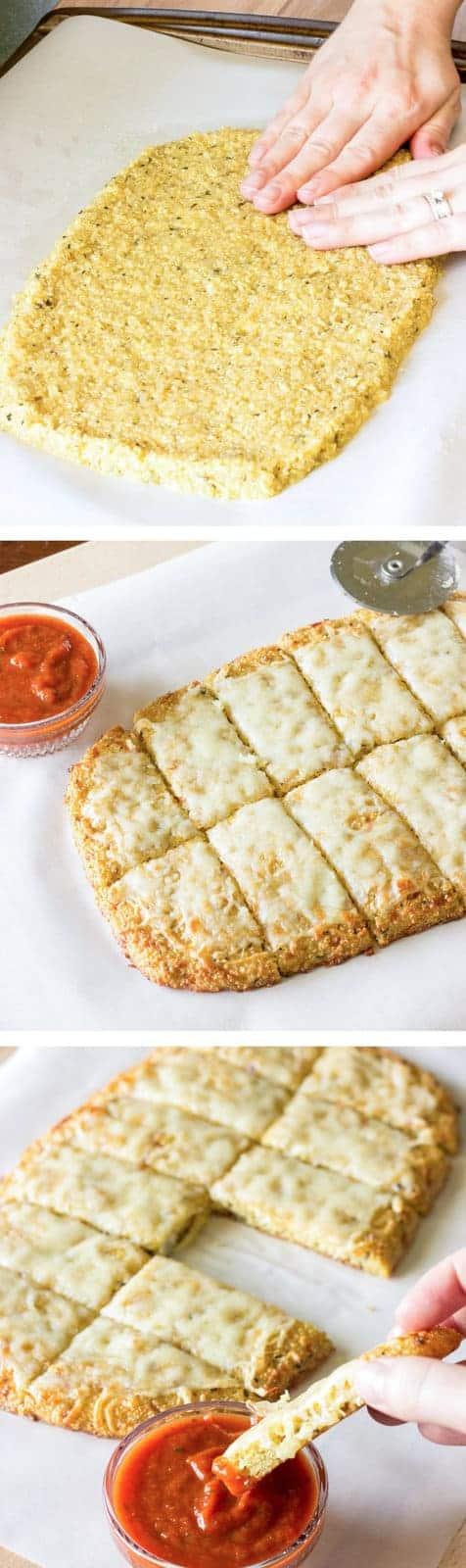 Quinoa Crust for Pizza or Cheesy Garlic Bread