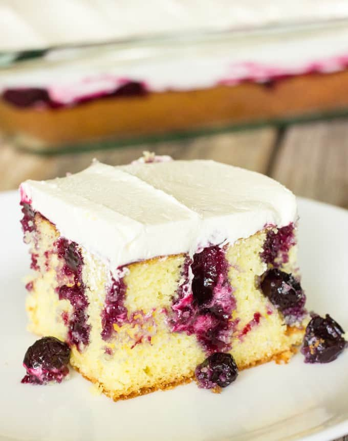 Lemon Poke Cake With Lemon Pie Filling