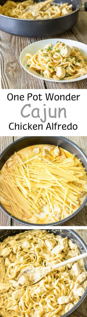1 Pot Cajun Chicken Alfredo Pinterest Collage