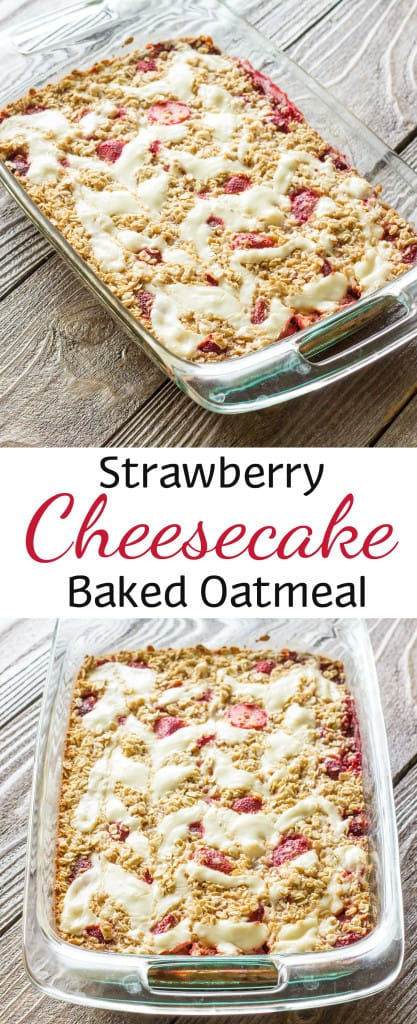 Strawberry Cheesecake Baked Oatmeal