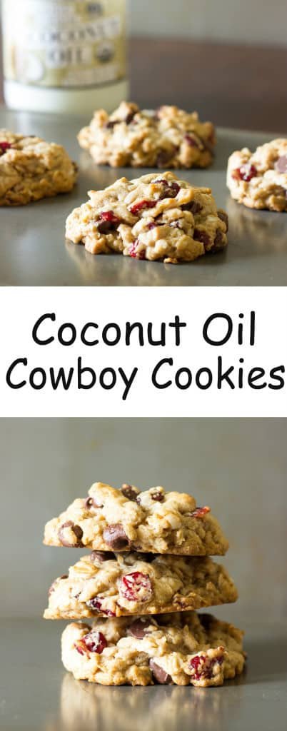 Coconut Oil Cowboy Cookies