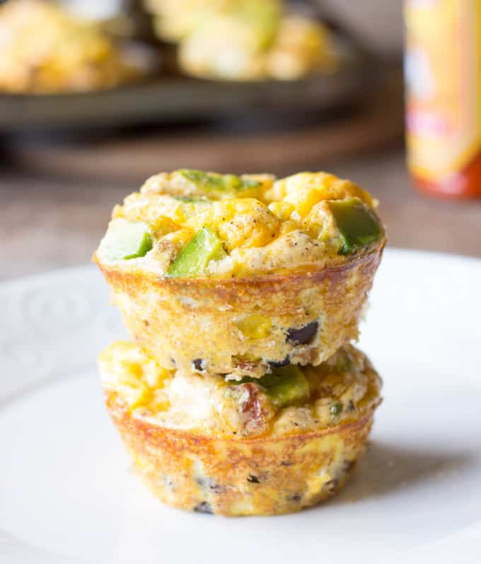 2 stacked Mexican Breakfast Cups