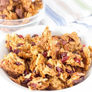 3 bowls of Basic Large Chunk Granola Recipe - Add Your Favorite Flavors