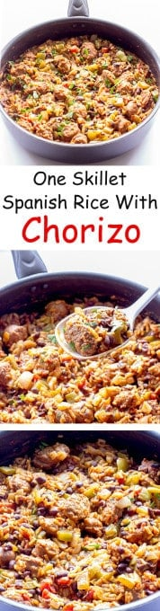 One Pot Wonder Spanish Rice with Chorizo