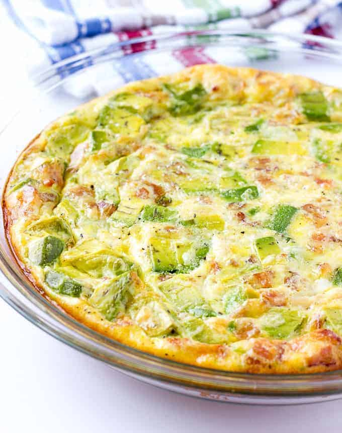 whole Avocado Bacon Crustless Quiche