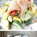 Caprese Stuffed Chicken Foil Packs