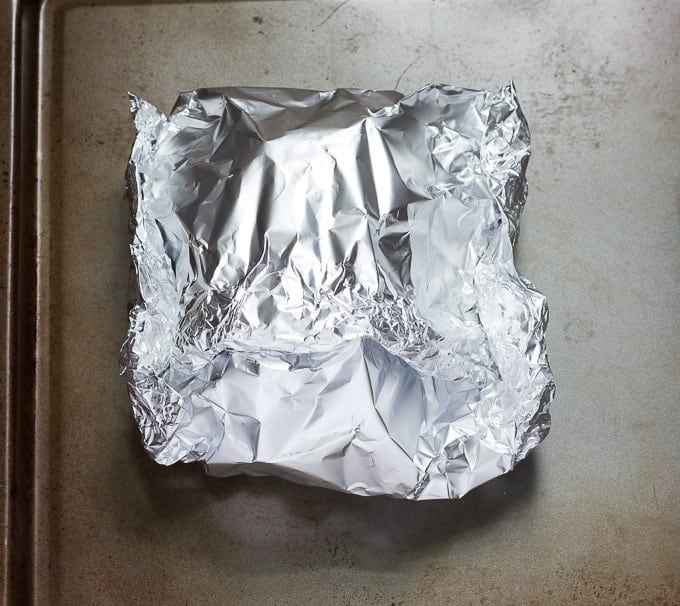 square folded foil packet