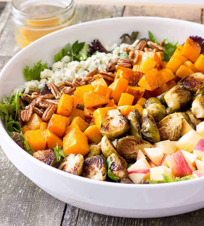 Roasted Butternut Squash & Brussels Sprouts Harvest Salad ...