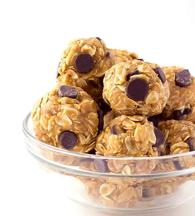 No Bake 4 Ingredient Energy Bites