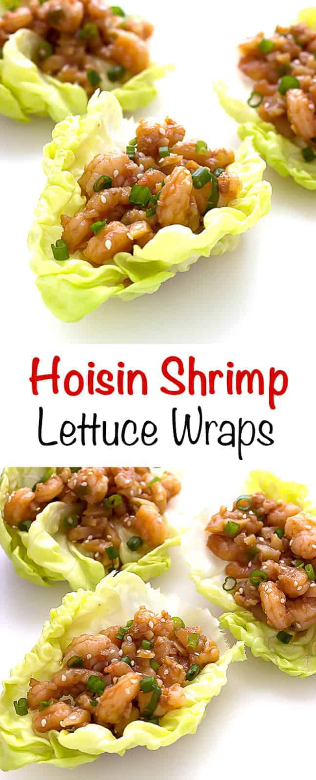 Hoisin Shrimp Lettuce Wraps - The Wholesome Dish