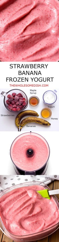 Strawberry Banana Frozen Yogurt recipe