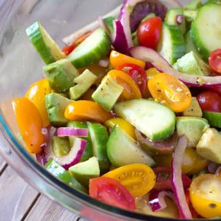 Avocado Cucumber Tomato Salad with Balsamic Vinaigrette