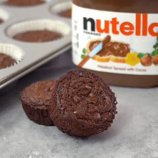 2 Ingredient Nutella Brownie Bites
