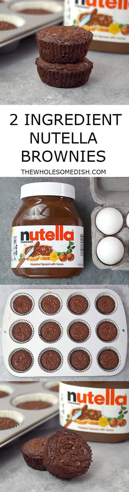 These 2 Ingredient Nutella Brownie Bites are the perfect chewy brownie consistency.  And, they can be made in the time it takes to preheat the oven.