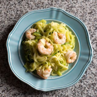 Lemon Garlic Shrimp and Zucchini Noodles – Zoodles