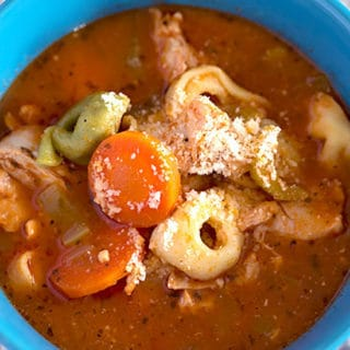 Crock Pot Italian Chicken Tortellini Soup