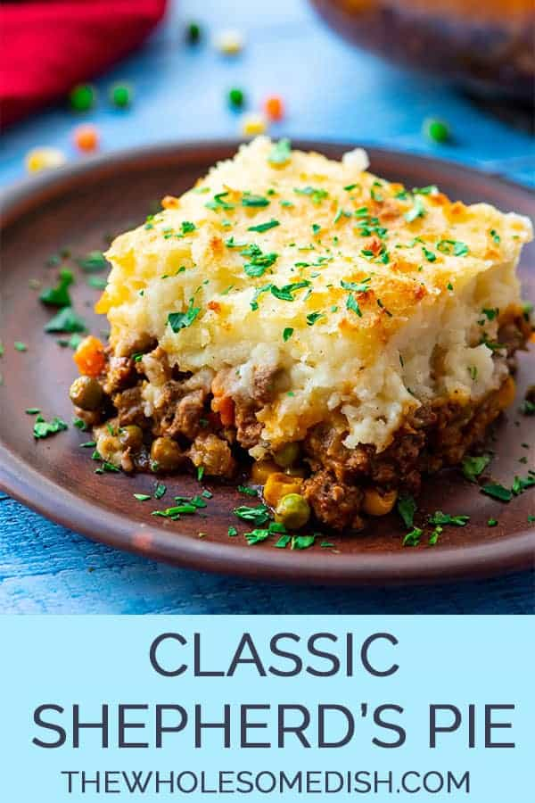 Classic Shepards Pie on a plate