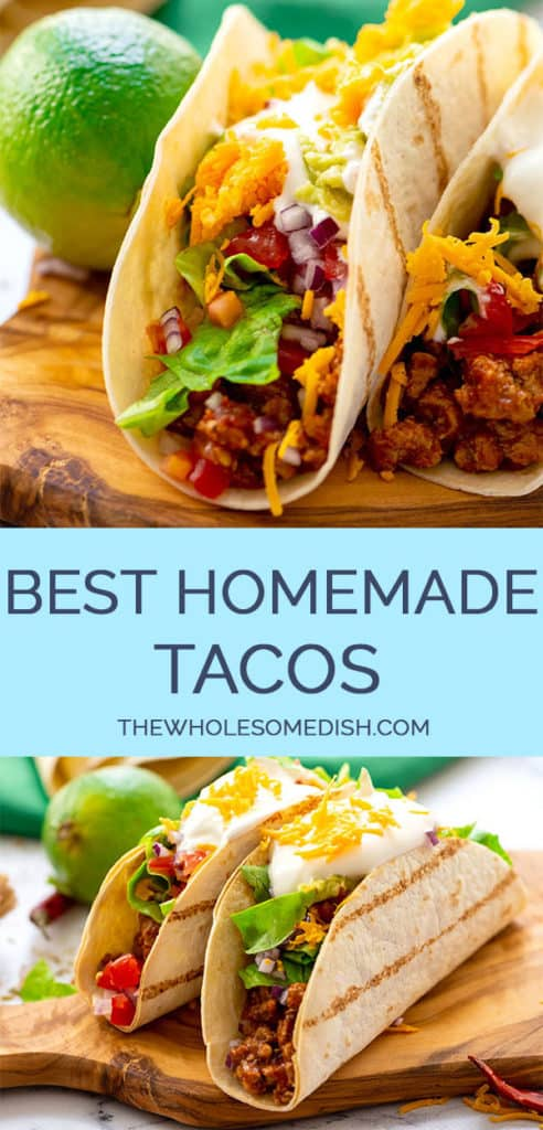 The best homemade taco recipe 2 image pinterest collage