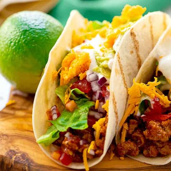 The Best Homemade Tacos The Wholesome Dish