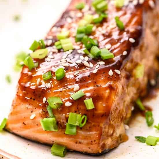 Teriyaki Baked Salmon The Wholesome Dish
